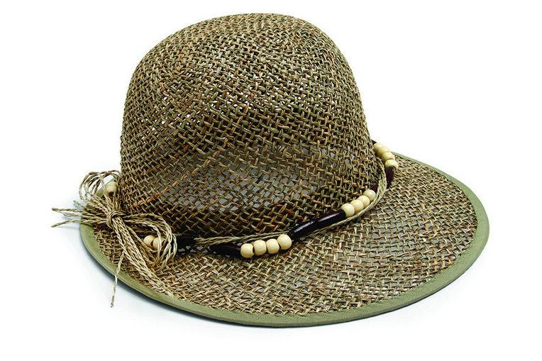 12a9512b55 Γυναικείο χειροποίητο καπέλο από φυσικό υλικό