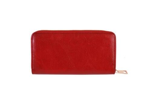 Μονόχρωμο πορτοφόλι γυναικείο