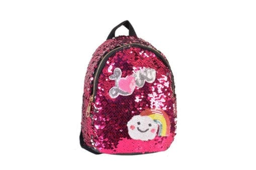 Love Sequin Backpack